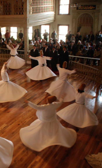 Whirling Dervishes doing Sema